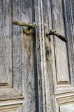 Old door handles Stock Photo