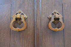 Old Door Handles Royalty Free Stock Image