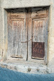 Old door with handwriten Stock Image
