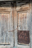 Old door with handwriten Royalty Free Stock Images