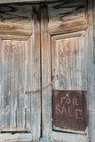 Old door with handwriten Royalty Free Stock Images