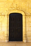 Old door at the Hieronimites MOnastery, Lisbon, Por Stock Photography