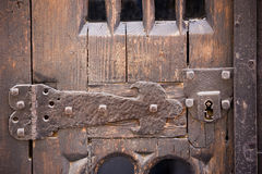 Old door with hinge Royalty Free Stock Images