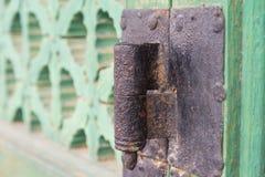 Old door hinge Gyeongbokgung Palace   closeup Royalty Free Stock Images