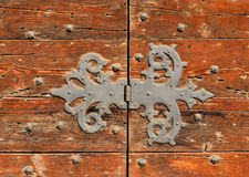 Old door hinge Stock Photo