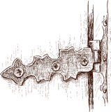 Old door hinge Royalty Free Stock Photography