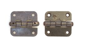 Old Door Hinges Isolated On White Royalty Free Stock Image