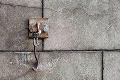 Old door hook Royalty Free Stock Photo