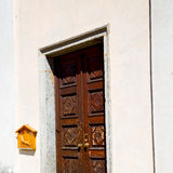 Old door in italy land europe architecture and wood the historic gate Royalty Free Stock Photo