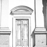 old door in italy land europe architecture and wood the historic Royalty Free Stock Photos