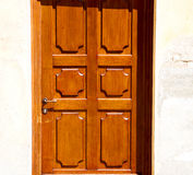 old door in italy land europe architecture and wood the historic Royalty Free Stock Photo