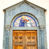 old door in italy land europe architecture and wood the historic Stock Photography