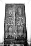 old door in italy land europe architecture and wood the historic Royalty Free Stock Photography