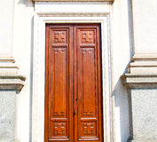 old door in italy land europe architecture and wood the historic Stock Images