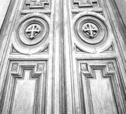 old door in italy land europe architecture and wood the historic Stock Photo