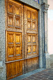 Old door in italy land gate Stock Photography