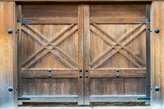 The old door in japanese style. The old wood door in japanese style Stock Photography