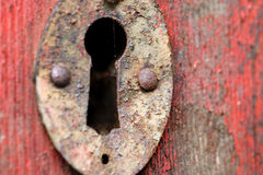 Old door keyhole Royalty Free Stock Photo
