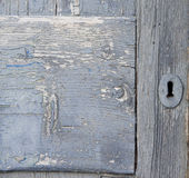 Old door with keyhole Stock Image