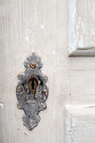 Old Door Keyhole Stock Photography
