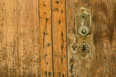Old door and keyhole Royalty Free Stock Images