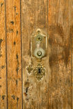 Old door and keyhole Royalty Free Stock Photo