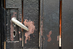 Old Door  with keyhole Royalty Free Stock Photography