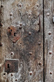 Old door with keyholes Royalty Free Stock Photography