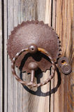Old door knob and keyhole from wrought iron Stock Image
