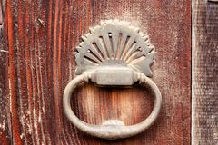Old door knock with dust Royalty Free Stock Photos