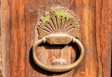 Old door knock with dust. Vintage door knock with dust stock images