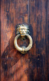 Old door knocker. Close up view of a tuscany Old door knocker Stock Images