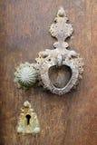Old  door knocker. Knocker of old wooden door Stock Photography