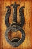 Old door knocker. Close up of door with a knocker Stock Photo