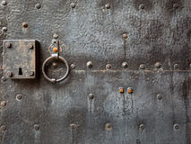 Old door with knocker Stock Photo