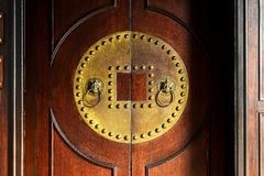 Old door and knocker Royalty Free Stock Photography