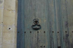 and the old door knocker in greece Stock Photography