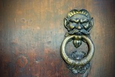 Old door knocker Stock Photo