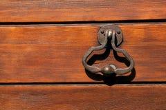 Old Door Knocker. Wood wall Stock Photography