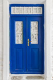 Old door in Kythnos island, Cyclades, Greece Stock Images