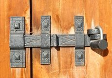 Old door latch Stock Image