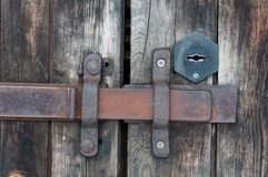 Old door latch Royalty Free Stock Photo
