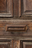 Old door and letterbox slot Antigua Guatemala. Old door and letterbox slot in the house Antigua Guatemala Royalty Free Stock Image