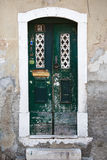 Old door of Lisbon, Portugal Stock Images