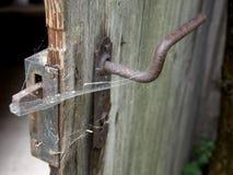 Old Door Lock Stock Photography