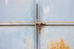Old door with lock Stock Image