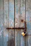 Old door with lock Stock Image