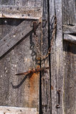 Old door. An old door with a lock Royalty Free Stock Photography