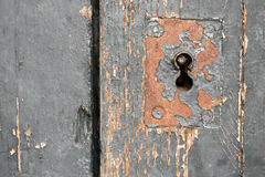 Old Door Lock, Close-Up Background. Horizontal Stock Image