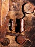 Old door lock - detail Stock Photography